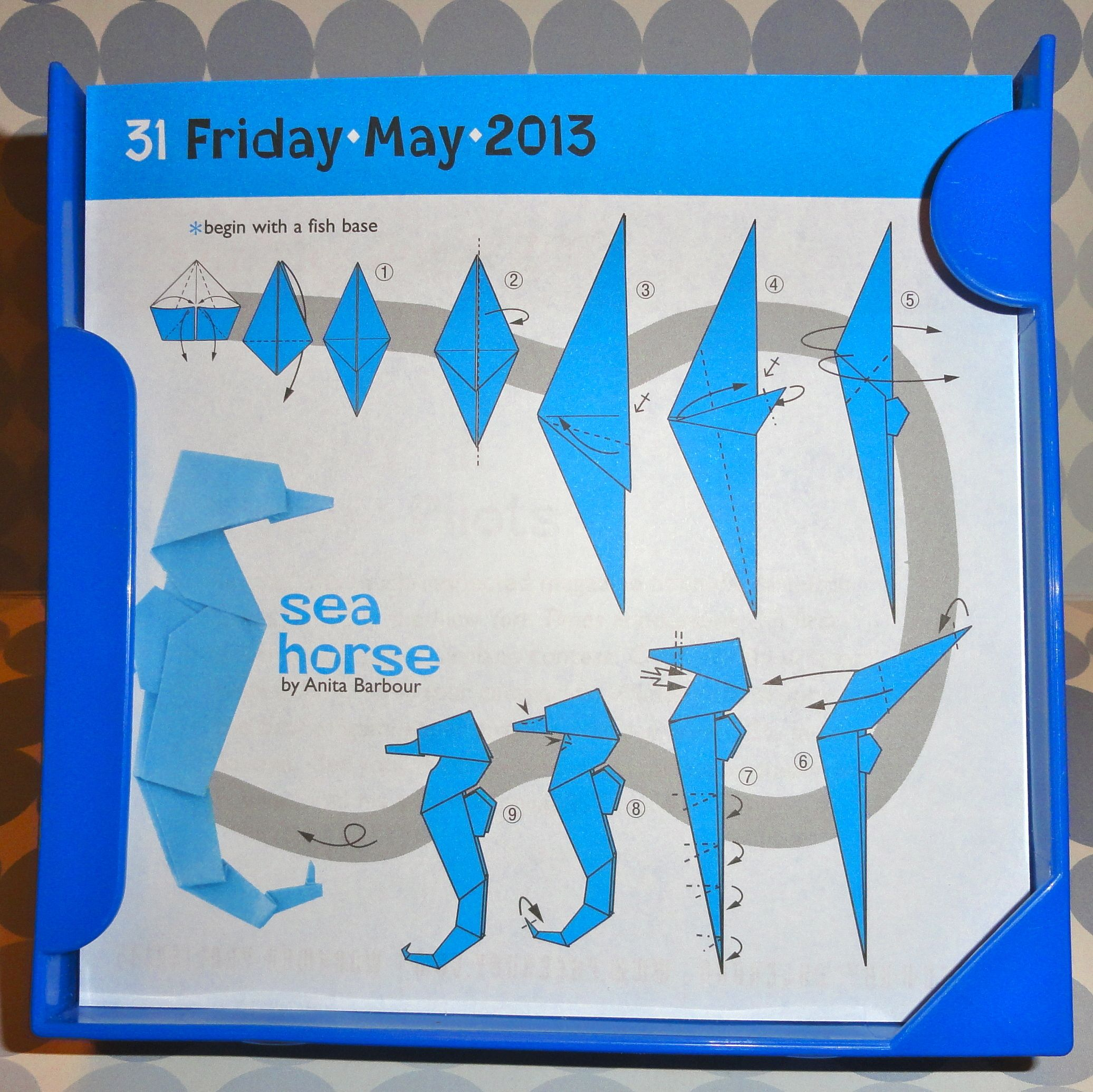origami easy seahorse paper things pinterest