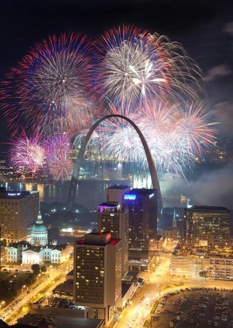 Arch fireworks